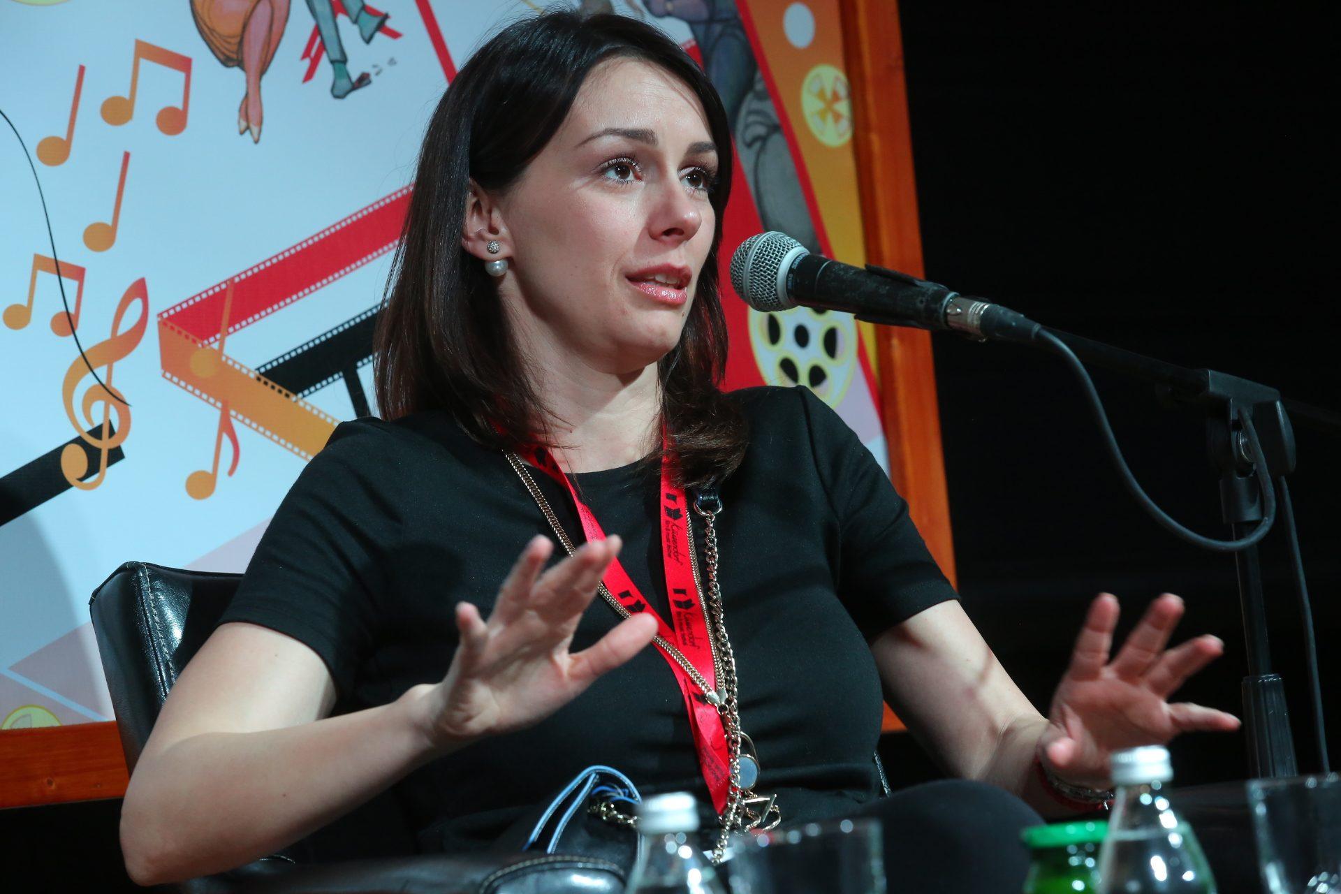 """Слобода Мичалович, актриса фильма """"По Млечному пути""""."""